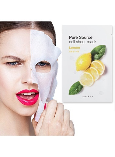 Missha Pure Source Cell Sheet Mask (Lemon) Renksiz